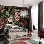 Винтажные розы в декоре спальни