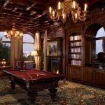 Бильярдный стол в гостиной