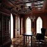 Потолок с узорами в кабинете