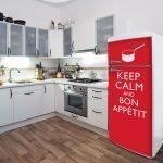 Надписи на холодильнике