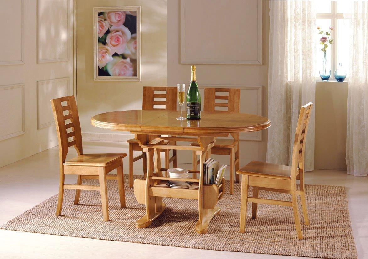 Деревянная мебель в столовой