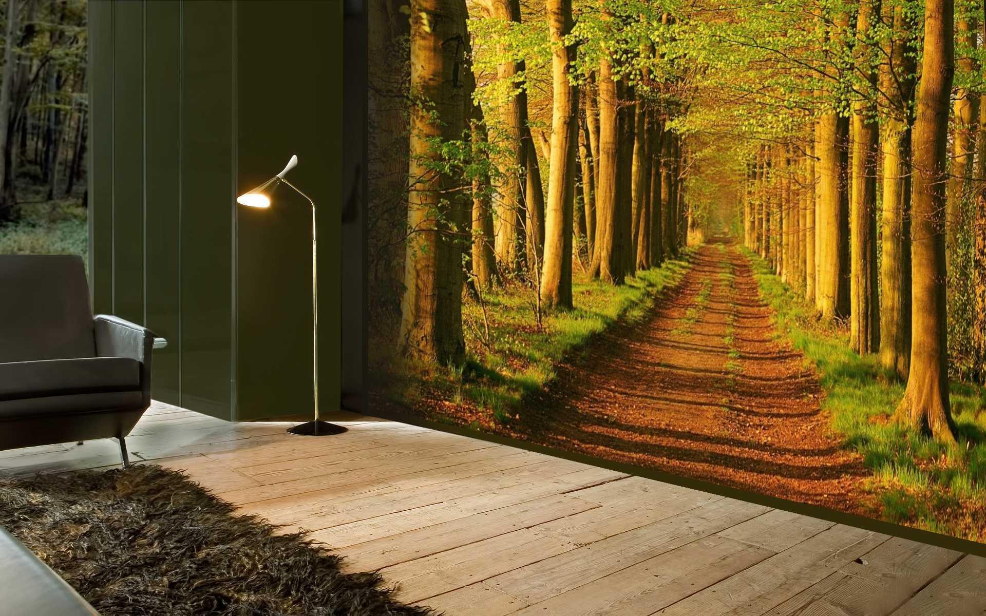 Интерьер с кусочком леса
