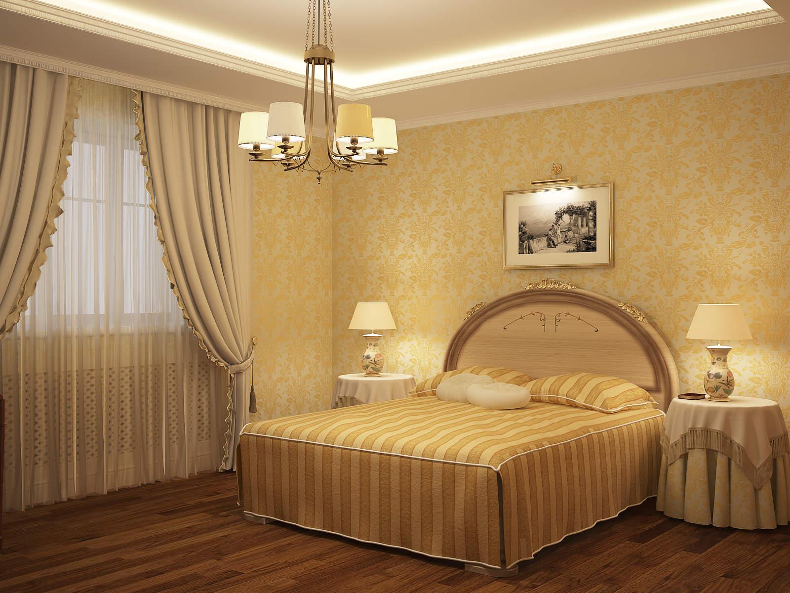 Картина с подсветкой над кроватью