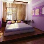 Спальня с сиреневым интерьером