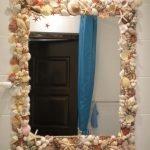 Оправа зеркала из ракушек