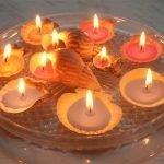 Свечи из ракушек