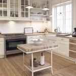 Уютная кухня в частном доме