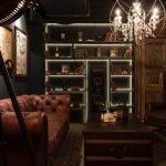 Лампа-прожектор у дивана