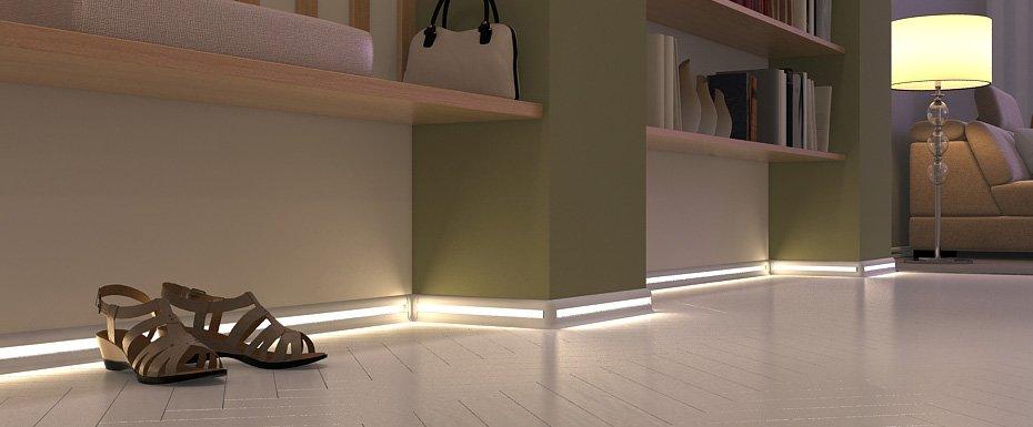 Светодиодная подсветка плинтусов