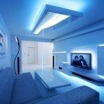 Гостиная со светлым интерьером
