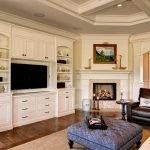 Шкаф со встроенным телевизором в гостиной
