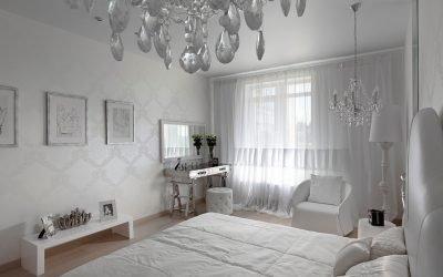 Белые шторы для создания воздушного интерьера +75 фото