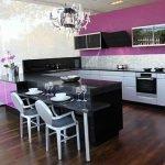 Черно-фиолетовая кухня