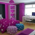 Спальня в контрастном декоре