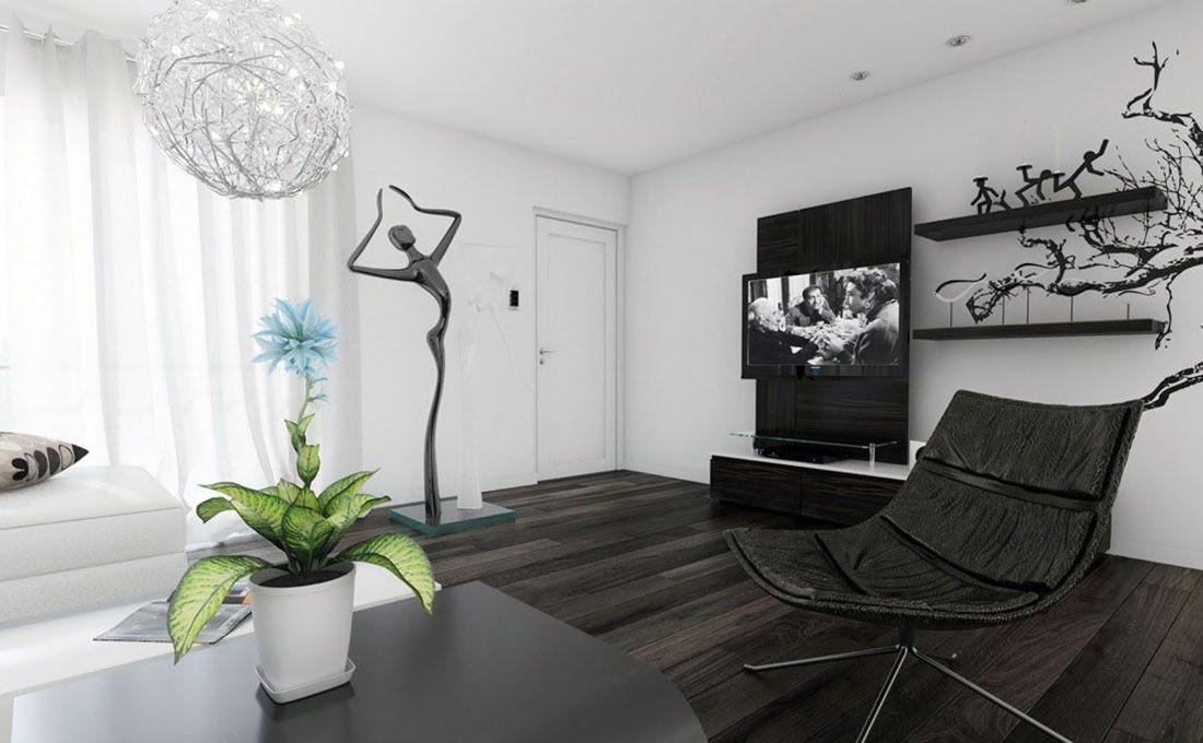 Черный цвет в декоре кабинета