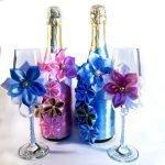 Цветы на бокалах