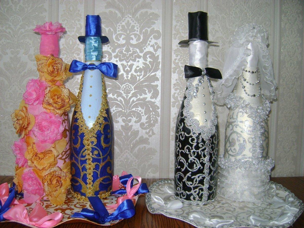 Бутылки в технике шибори