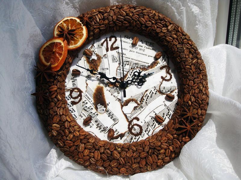 Часы в кофейном стиле своими руками 43