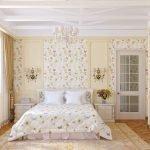 Цветочный текстиль в спальне