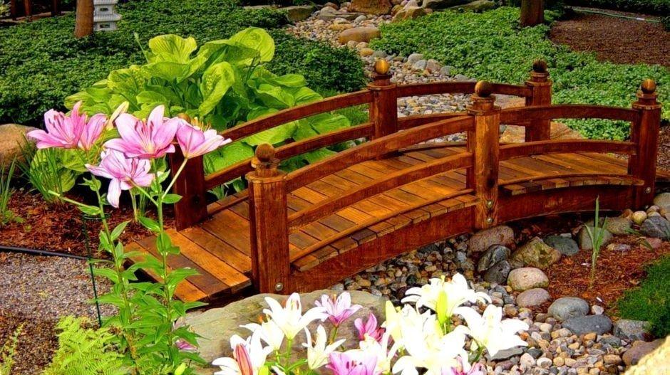Декоративные мостики своими руками для сада 417