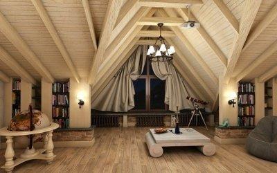 Дизайн чердака +75 фото обустройства комнаты в частном доме