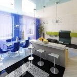 Дизайн гостиной-столовой