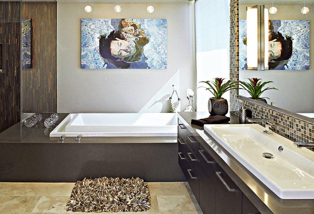 Большая ванная в частном доме