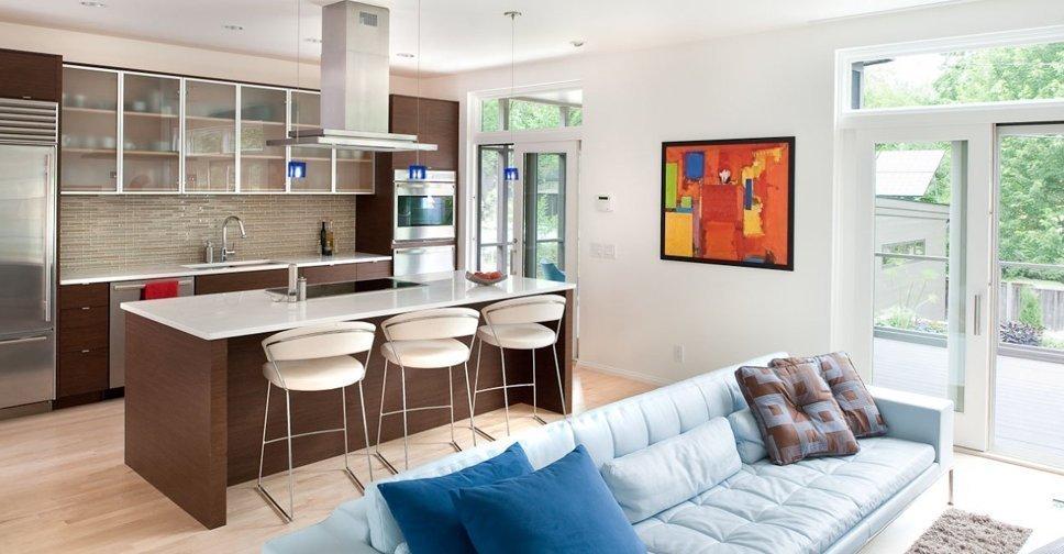 Кухня-гостиная в частном доме