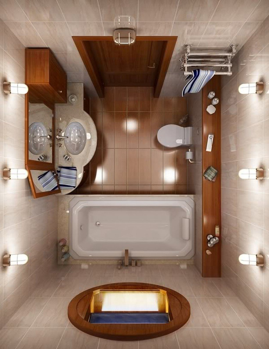 Освещение в малогабаритной ванной