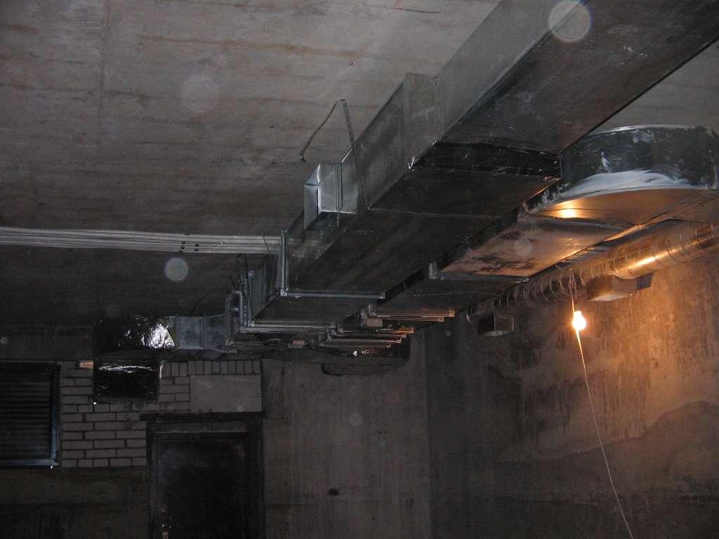 Искусственная вентиляция в подвале