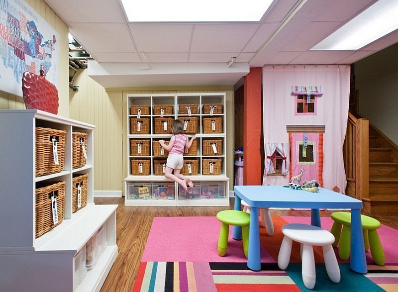 Игровая комната для детей в подвале