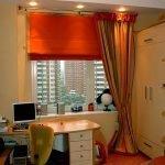 Комбинированные шторы для спальни