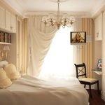 Спальня с кабинетом в классическом стиле