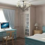 Голубая мебель в интерьере