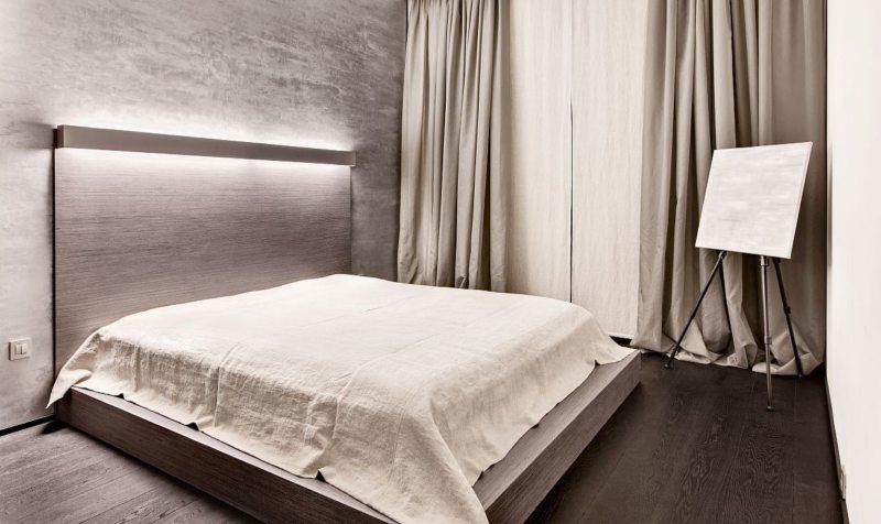 Ламинат на полу спальни в хрущевке