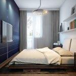 Спальня с балконом в хрущевке