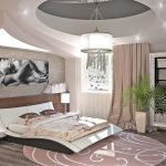 Декоративная пальма в спальне
