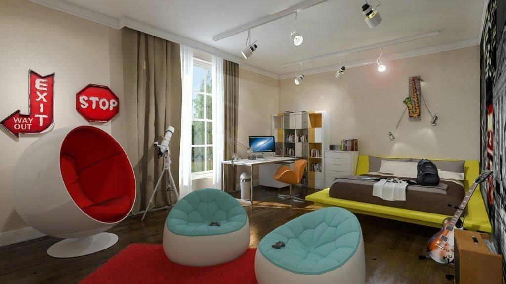 Детская спальня в стиле хай-тек