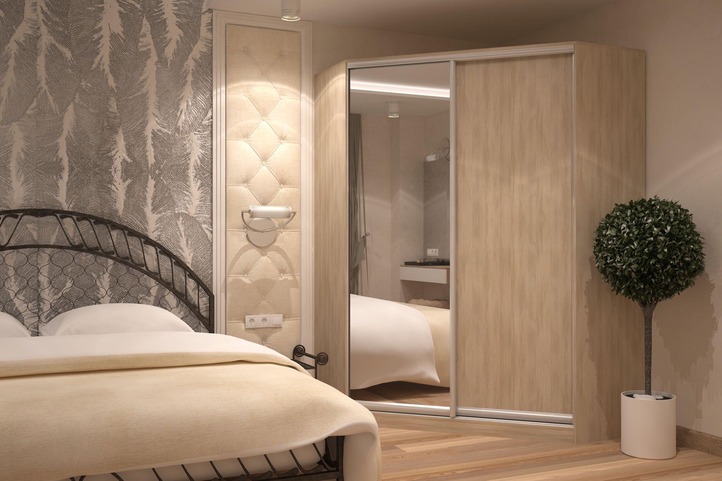 Угловой шкаф в спальне