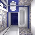 Декор синей плиткой