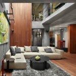 Интерьер из дерева и бетона