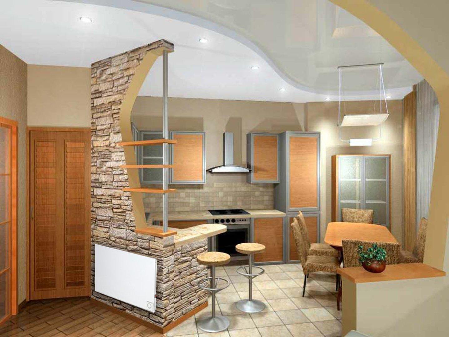 Как сделать переход от кухни в коридор фото