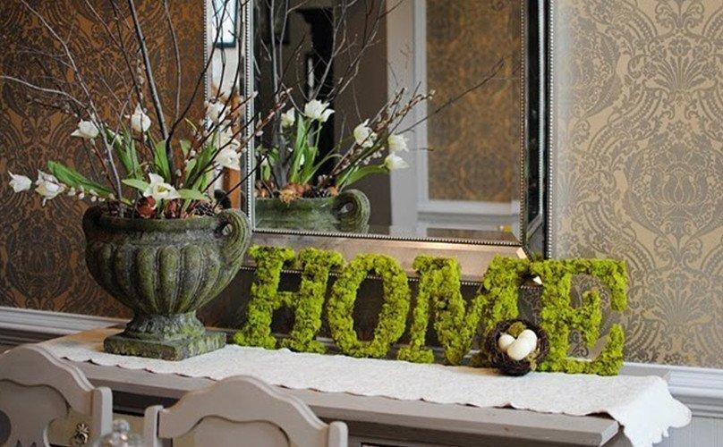 Декоративные буквы из мха