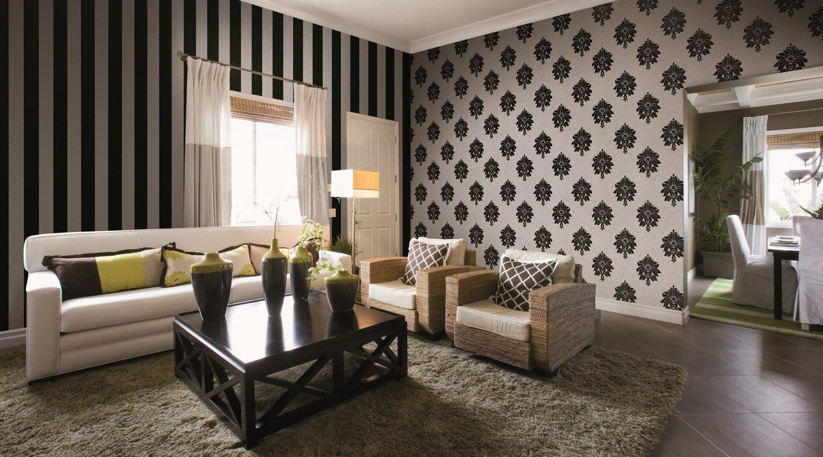 Комбинирование обоев в гостиной (25 фото идеи сочетания) 26
