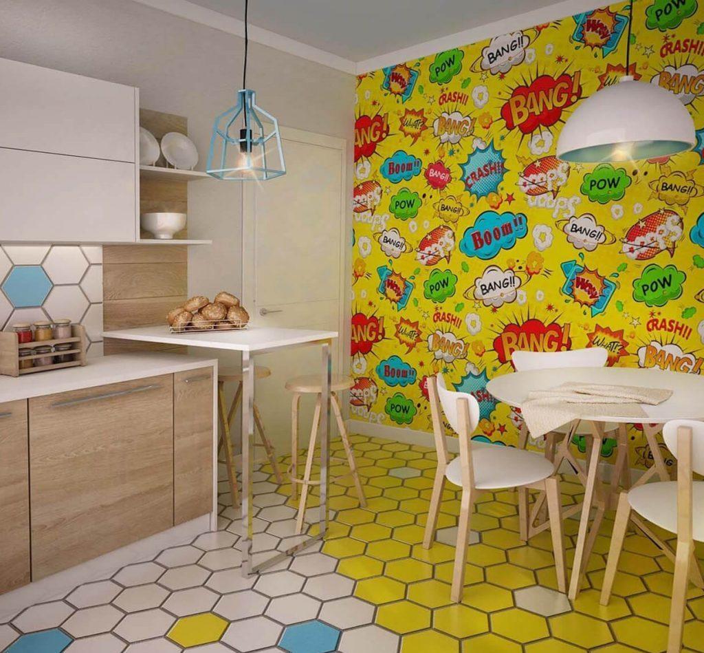 Кухня в стиле поп-арт