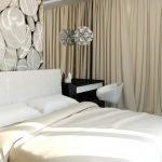 Стильный декор спальни 6 кв. м.
