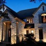 Наземное освещение дома
