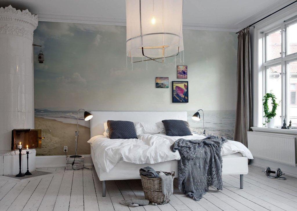 Интерьер в скандинавском стиле со светильниками