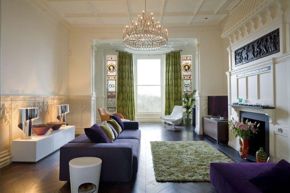 Винтажный интерьер гостиной