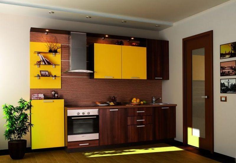 Желто-коричневая кухня